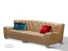 luxury modern leather streamlined 3 seat sofa italy style top high quality