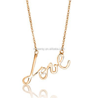 Women Gold Plated Necklace Miniature Lavin