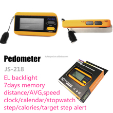 Poket Pedometer with EL backlight Calories /Steps/Distance/Timing/Stopwatch/Sport/Fitness & body building