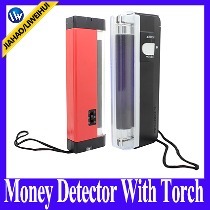 Liweihui uv lamp money easy to use and sea counterfeit money detector with torch and long LEDS