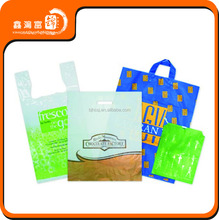 Custom printed clear plastic bag with hang hole