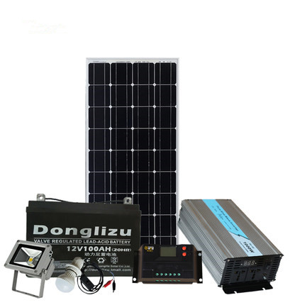 1kw solar power systerm 1000w solar panel with controller battery and inverter