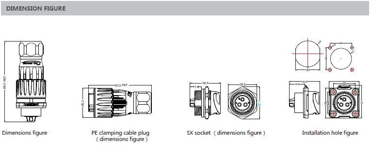 9pin m20 étanche à souder prise électrique connecteur de signal