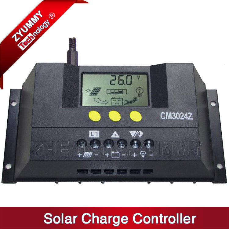 30A 12V/24V Auto Switch PWM Solar Charge Regulator