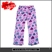 wholesale winter printing design casual warm coral fleece pants for women trousers
