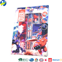 FJ brand colored promotional custom printing stationery set school for kids , pictures of stationery items