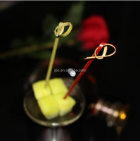 12cm Eco-friendly colorful bamboo food fruit picks