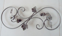 decorative metal flower rosettes