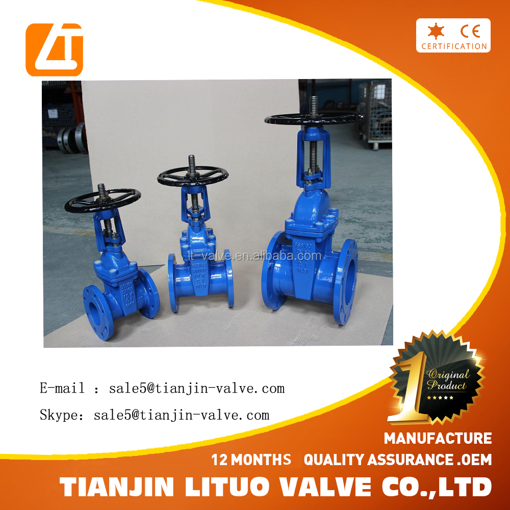 rising stem/ non rising stem color cast iron gate valve, manufacturer