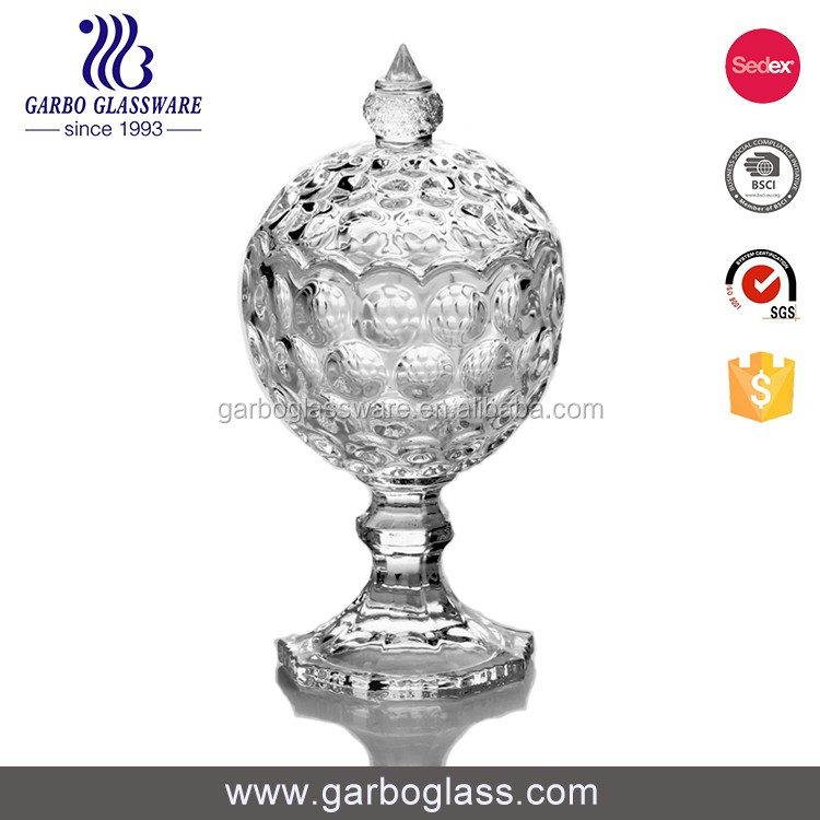 Competitive Price glass candy pot glass food jar round glass jar