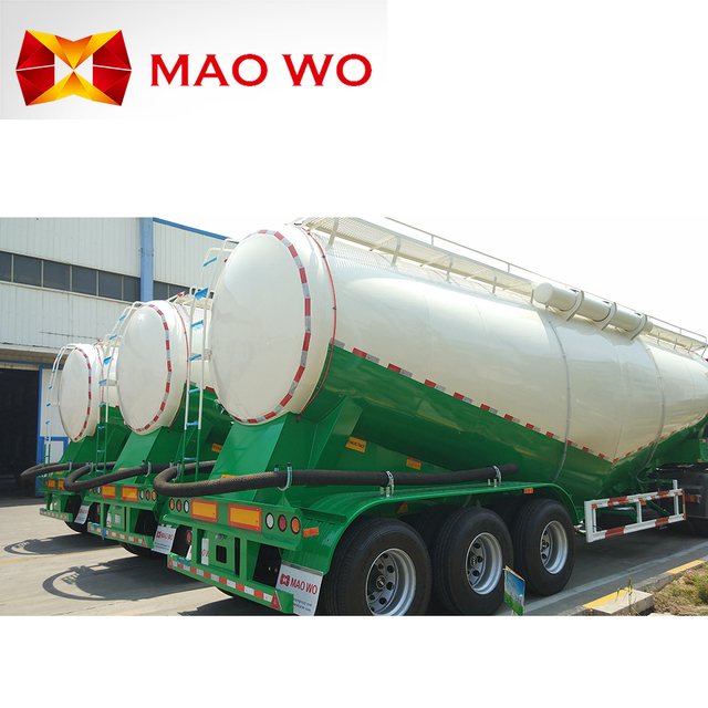 High quality manufucturer special powder tanker trailer and bulk cement trailer
