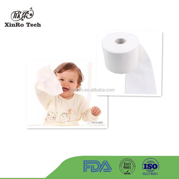 100% Cotton Spunlace Nonwoven Fabric for Baby Wipe