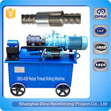 Rebar machine construction screw thread rolling machining screwing making machinery