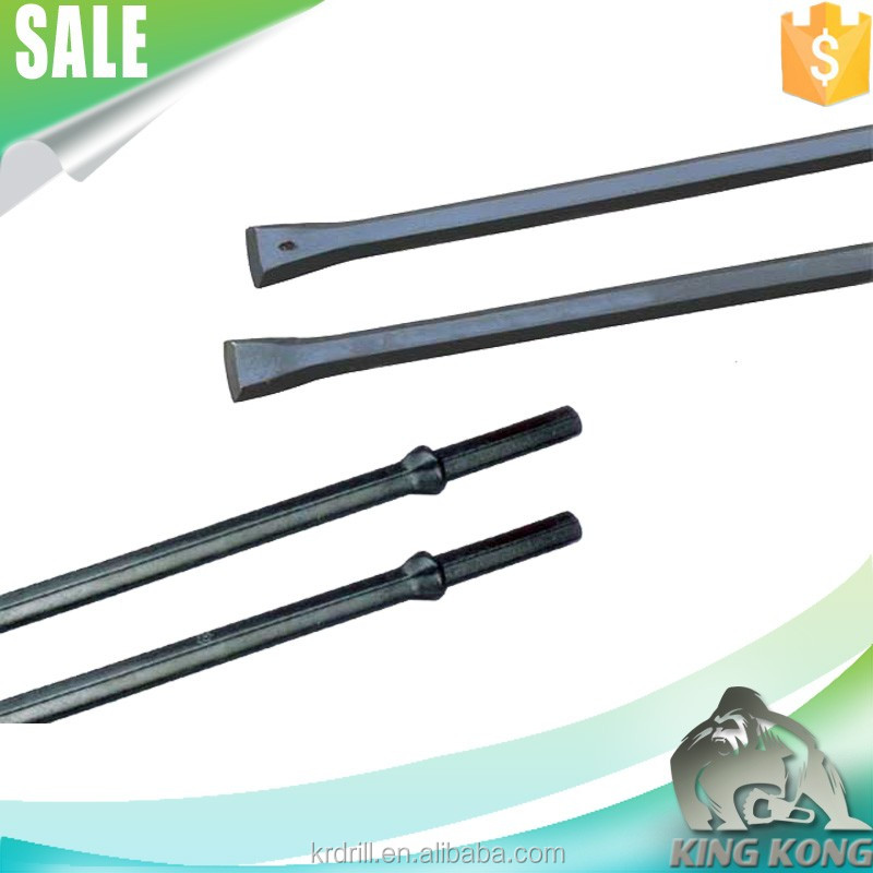 H22 38mm Integral Drill Rod 2400mm Tapered Rock Drilling Tools