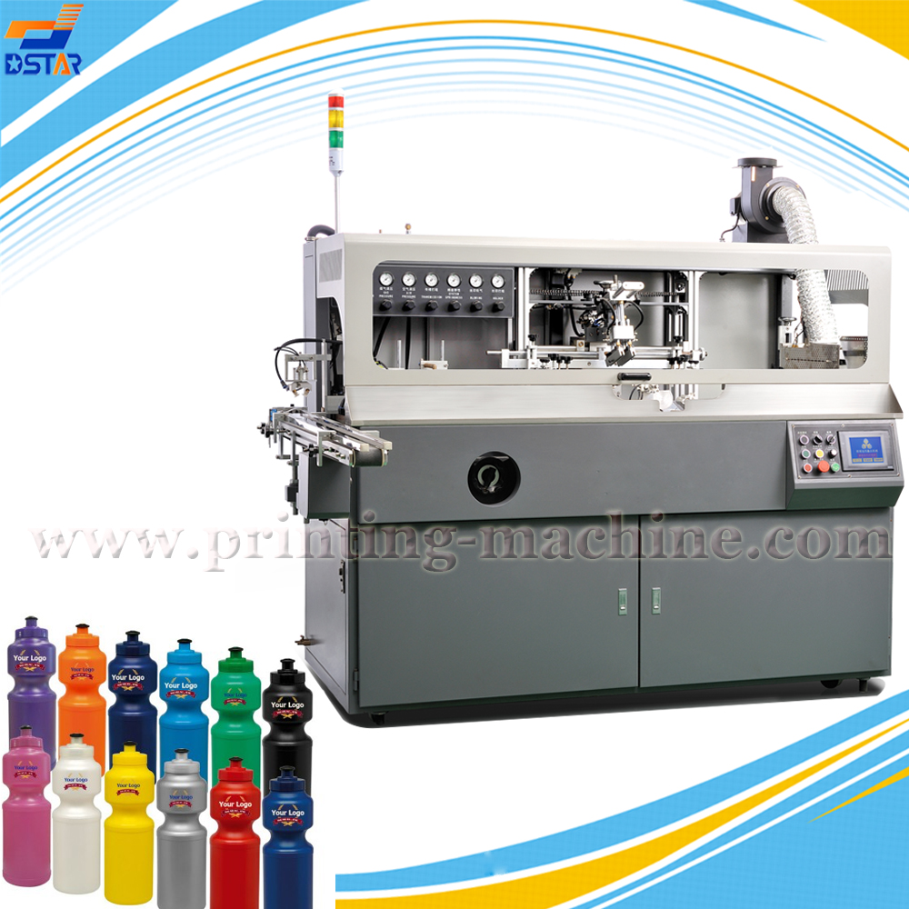 DXS101 full automatic PET promotional drinking bottle 1 color screen printing machine