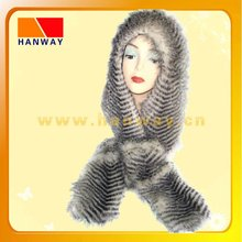 women fur winter hats with scarf set