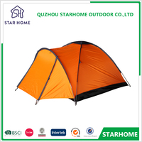 2018 hot sell Orange camping 2 person cheap family picnic tent