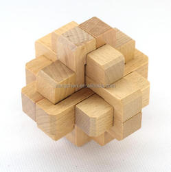 wholesale educational toy 3d wooden puzzle lunhui brain teaser wooden puzzle