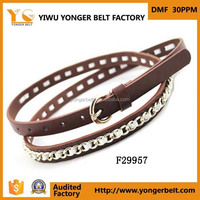 Skinny 1cm Fashion Alloy Waist Belt