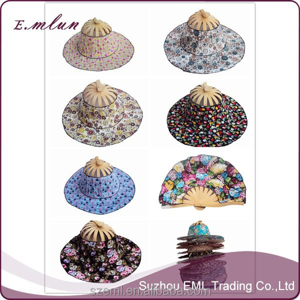2016 newest fashion sun hats made of bamboo china