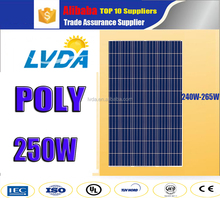 Factory directly sale poly solar power system home per watt polycrystalline home system 250w poly solar panel