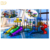 Factory custom kids outdoor water park equipment, plastic water slide for adult and children