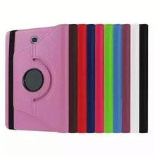 360 Degree Rotating Stand Litchi Leather Cover Case for Samsung Galaxy Tab E 9.6 T560