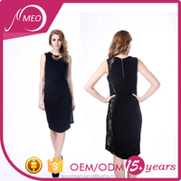Customized color export lady casual slim pencil dress design