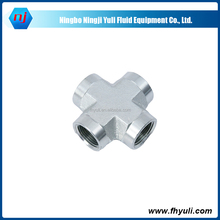 NJ carbon steel hydraulic adapter cross NPT SAE J846 fitting