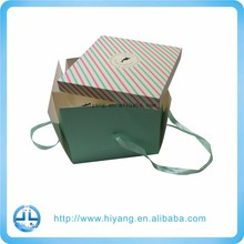 Food grade paper card 10inch portable cake box with lid