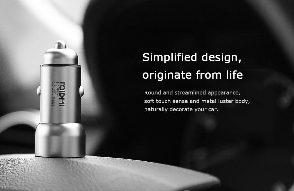 Original Xiaomi Roidmi C1 Car Charger Metal Body Dual USB Port 5V 3.6A Quick Charger Smart Charging Universal For iPhone iOS And Android (10)