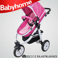 2015 Aluminium tube 3 in 1 baby stroller with car seat baby stroller