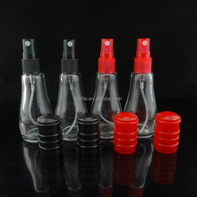 Unique 15ml Bowling Shaped Brand Perfume Glass Bottle with PP Cap and Mist Sprayer