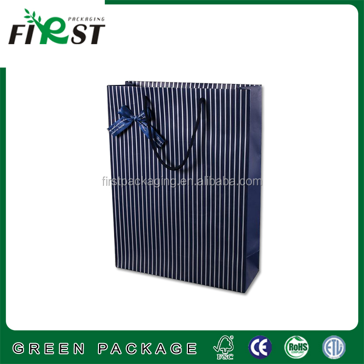Holographic Laser Hologram Paper Bag Gift Bag for Gift Packing/Customized logo silver hot-stamping logo luxury paper gift bags