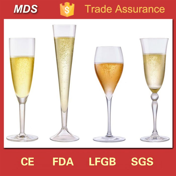 Custom cheap antique tulip champagne flute glass