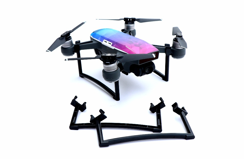 Increased Height Tripod Landing Gear Skid Legs Bracket Extension Tripod for DJI SPARK Drone spark foot stool