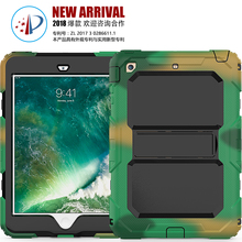Heavy Duty Shockproof Soft Silicone Cover For iPad Mini 1 2 3 with Detachable Strap
