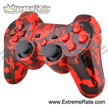 water transferring print repair parts shell with full set buttons accessories for ps3 wireless controller housing ( red )