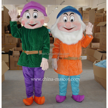 Christmas carnival and Snow White 7 Dwarfs Dwarfs plush costume
