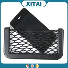 Convenient 15*8.5cm car mesh pocket organizer for phone and tickets stockage