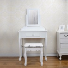 Hot Sale Girls Dressing Table Mirror Furniture Simple Dressers