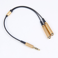top selling premium 3.5mm headphone jack y splitter audio adapter cable