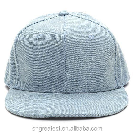 Structured 6 Panel Washing Cowboy Plain Snapback Hat