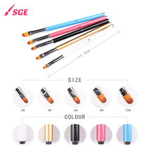 New Design Round Form Hair Aluminium Handle Nail Art Brush With Low Price