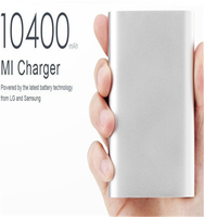 MI 10400mAh External USB Power Bank Portable Battery Charger with Premium Aluminum Alloy Surface Compatible with All Smartphones