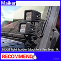 auto accessories Hood light holder (double) for jeep wrangler jk parts from maiker