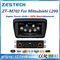 Double din car gps dvd head unit for mitsubishi pajero l200 car dvd gps navigation system