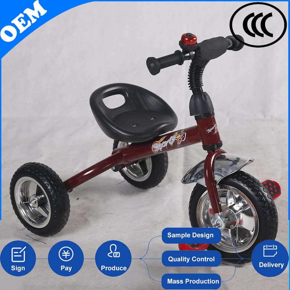 China wholesale new model three wheel big kid trike fisher price toddler tricycle toy with handle bar from china gold supplier