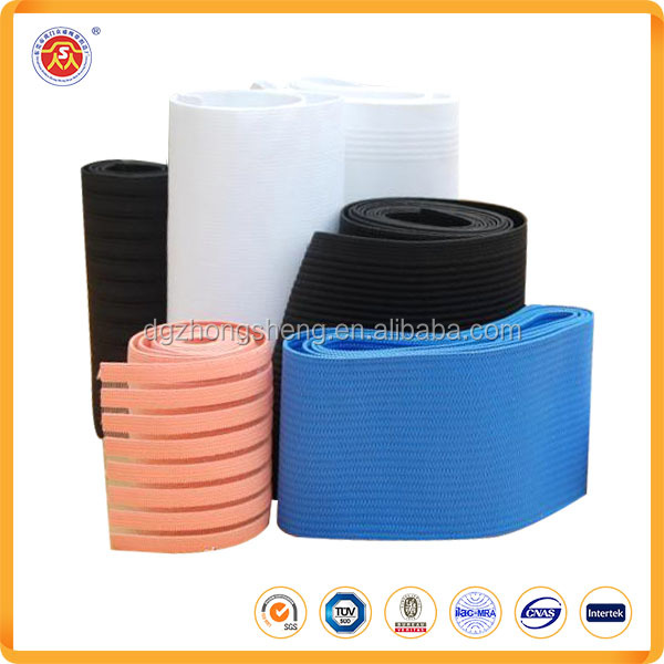 High quality elastic webbing polyester hollow elastic webbing tape