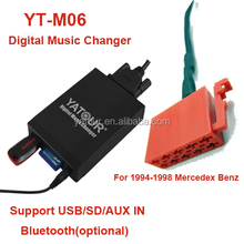 Yatour car music player mercedes cd changer adapter with bluetooth handsfree car kit